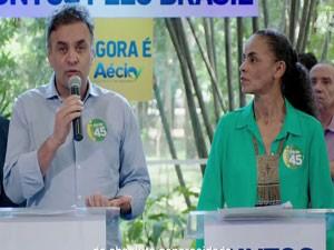 Aécio e Marina no horário eleitoral