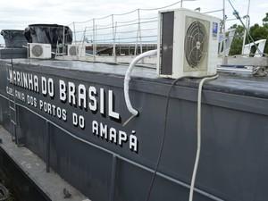 Capitania dos Portos do Amapá colocou dois navios patrulha na fiscalização (Foto: Abinoan Santiago/G1)