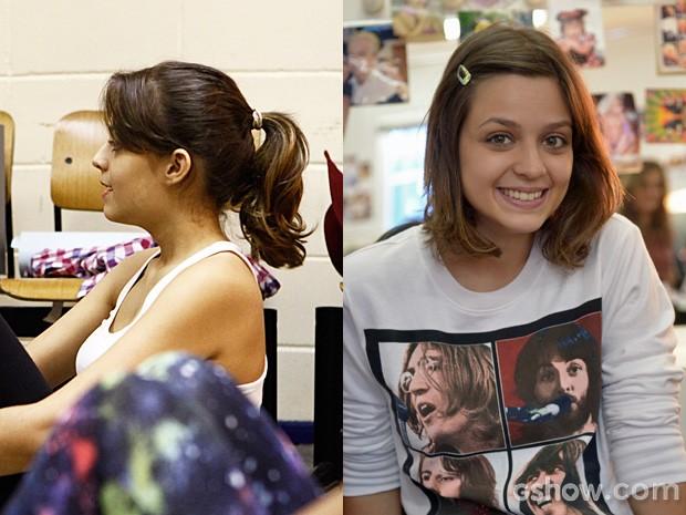 Maria Luisa adotou corte curto e meigo (Foto: Inácio Morais - Raphael Dias / TV Globo)