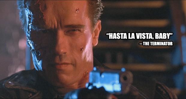 """""""Hasta la vista, baby"""" - O Exterminador do Futuro 2: O Julgamento Final (Foto: Divulgação)"""