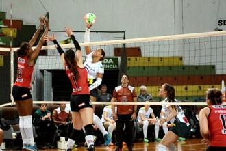Vôlei Bauru x Sesi-SP, Campeonato Paulista, playoff, Prisilla Rivera (Foto: Marina Beppu / Vôlei Bauru)
