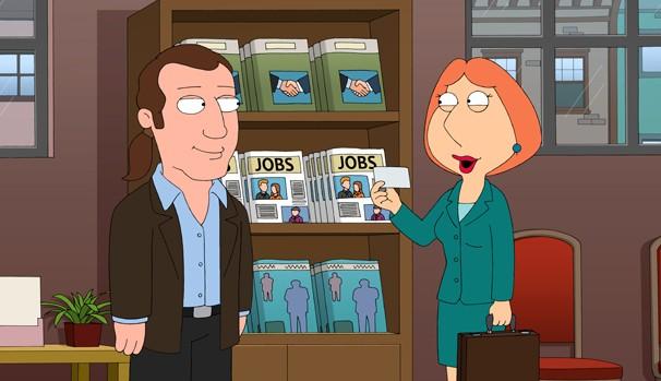 Peter perde tudo e Lois é obrigada a trabalhar (Foto: Divulgação/Reprodução)