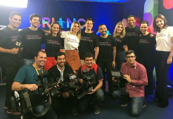 Equipe de dez afiliadas Globo participaram da festa do Criança Esperança (Foto: TV Clube)