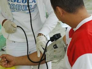 População poderá aferir pressão arterial (Foto: Divulgação / Prefeitura de Santos)