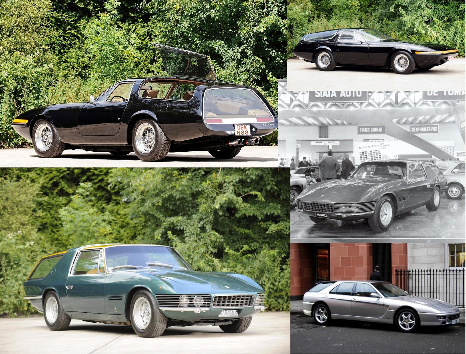 Shooting brakes constuídas sobre modelos Ferrari em diferentes épocas