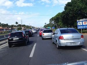 congestionamento (Foto: Giacomo Mancini/Arquivo Pessoal)