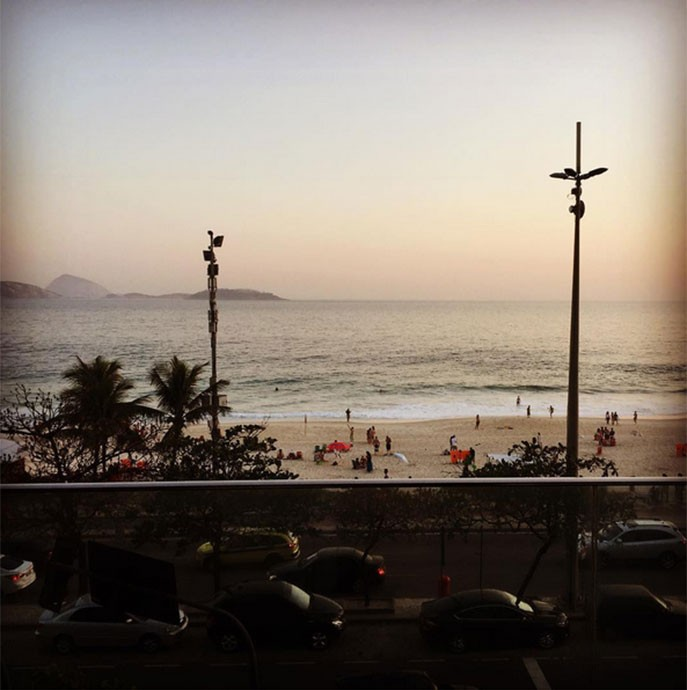 Shavo Odadjian postou foto com vista para a praia (Foto: Arquivo Pessoal)
