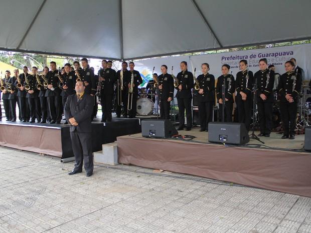 Em 2013, a Banda Jovem venceu o Campeonato Nacional e, em 2014, foi campeã estadual. (Foto: Divulgação/Prefeitura de Guarapuava)