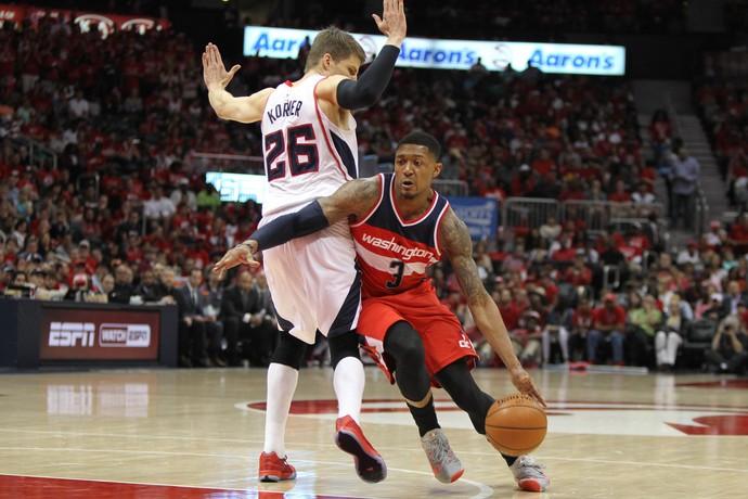 Com 28 pontos, Beal foi o cestinha do Wizards na vitória sobre o Atlanta (Foto:  Brett Davis-USA TODAY Sports)