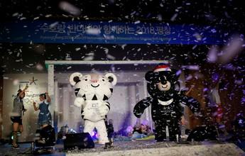 Tigre e urso são apresentados como mascotes de Pyeongchang 2018