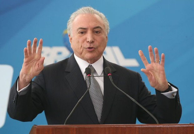 O presidente Michel Temer em cerimônia no Planalto (Foto: Antonio Cruz/Agência Brasil)