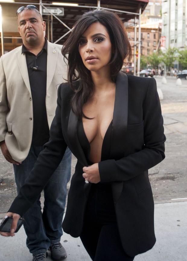 Kim Kardashian em Nova York, nos Estados Unidos (Foto: AKM-GSI Brasil/ Agência)