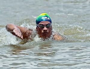 Ana Marcela na prova do Sul Americano de natação (Foto: Satiro Sodré / Divulgação Agif)