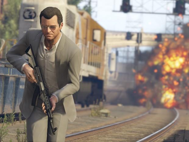 Michael, um dos protagonistas de 'GTA V', em cena da versão do jogo para PS4 (Foto: Divulgação/Rockstar)