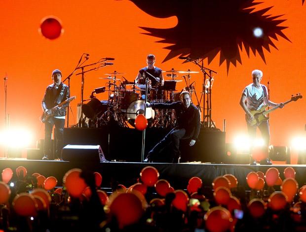 Show da banda U2 em São Paulo (Foto: Francisco Cepeda/AgNews)