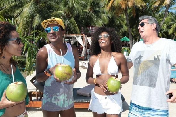 Aline Prado, Luís Miranda e Eduardo Galvão  (Foto: Fred Pontes/Divulgacao)