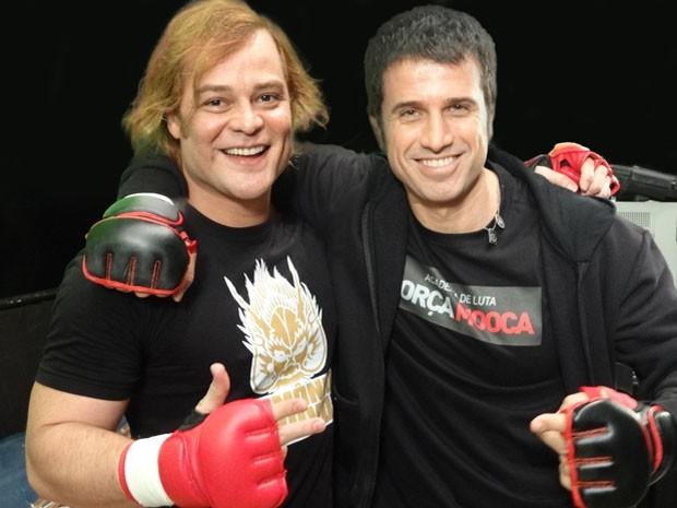 Germano e Eriberto antes de subir octógono (Foto: Guerra dos Sexos/TV Globo)