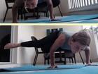 Zilu surpreende ao mostrar destreza na ioga