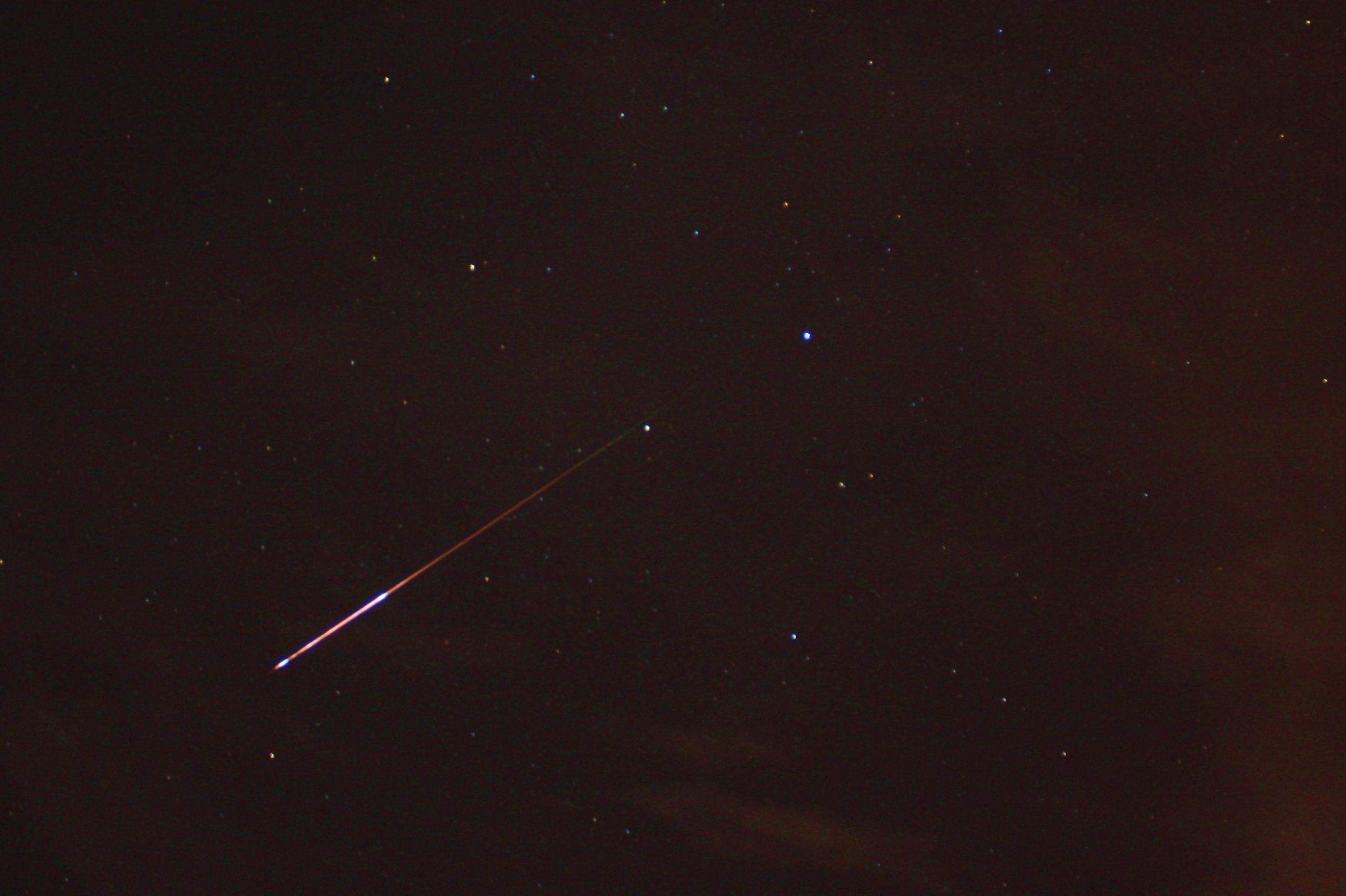 chuva de meteoros (Foto: wikimedia commons)