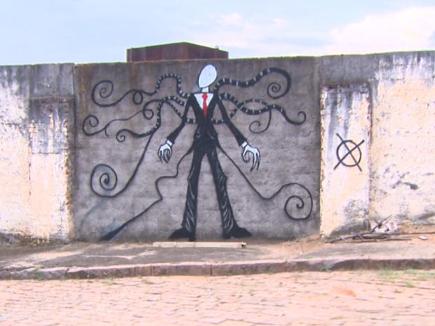 Pinturas se espalharam por muros (Foto: Eder Ribeiro/EPTV)