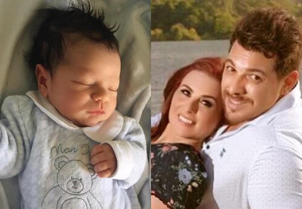 Vicente, filho de Cézar Lima e Carol Zoller (Foto: Reprodução/Instagram)