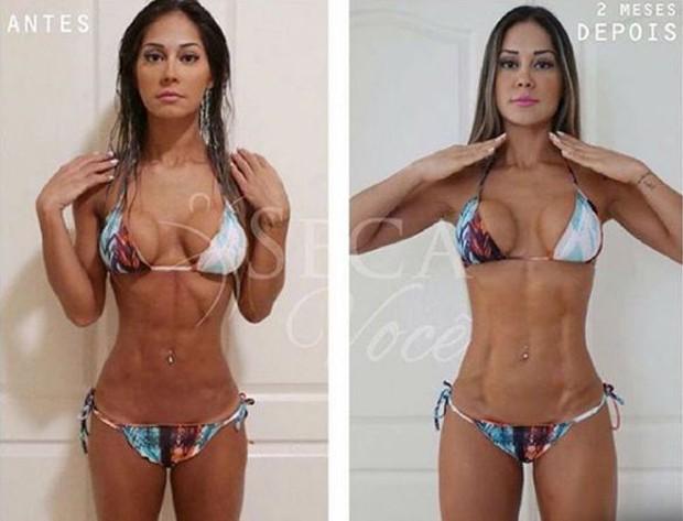 Antes e depois de Mayra Cardi (Foto: Reprodução/Instagram)