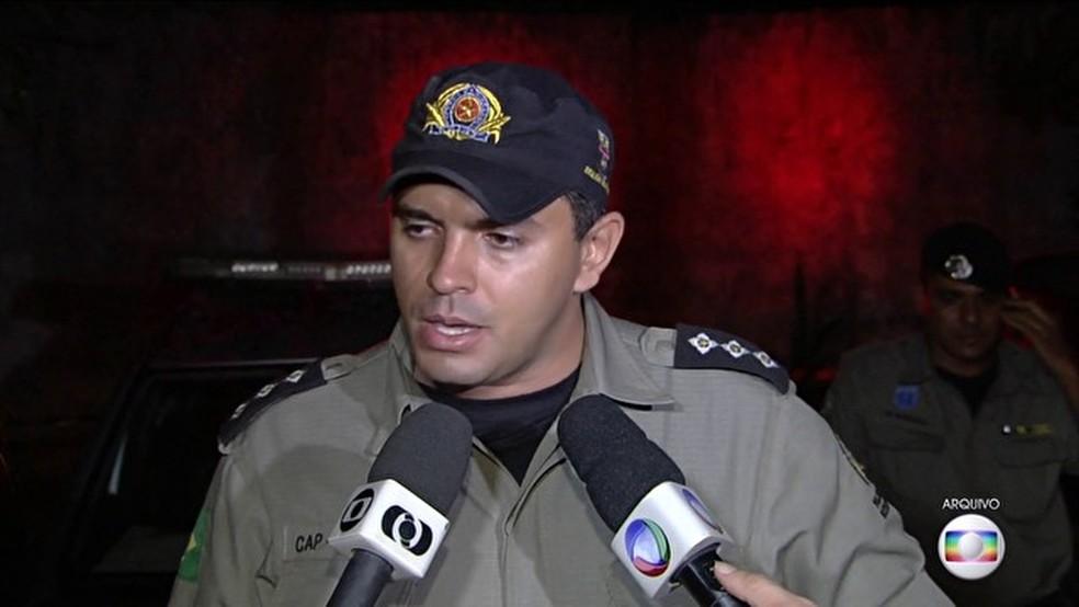 Capitão Augusto Sampaio foi afastado do patrulhamento das ruas (Foto: TV Globo)