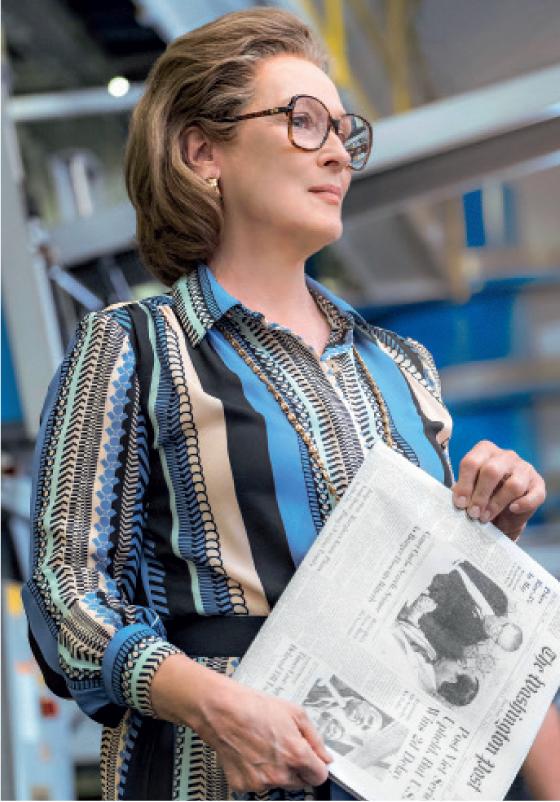 """VISIONÁRIA  Meryl Streep como Kay Graham, a publisher  do The Washington Post. Ela  dizia aos  investidores: """"Qualidade gera lucro"""" (Foto: Divulgação)"""