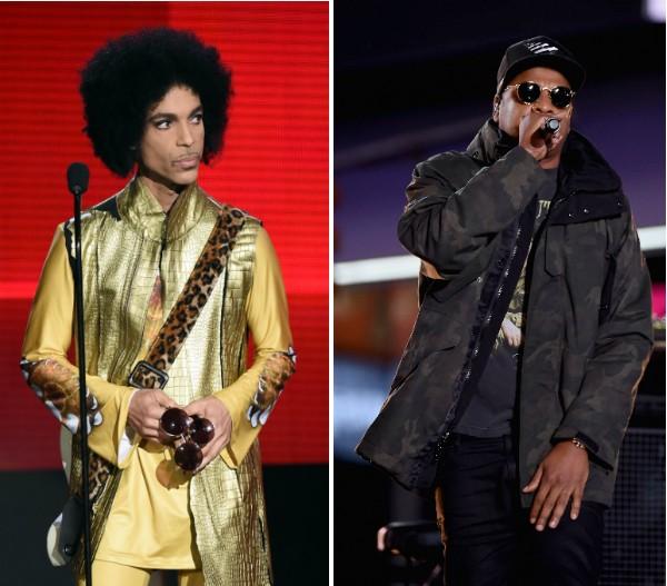 Os músicos Prince (1958-2016) e Jay-Z (Foto: Getty Images)