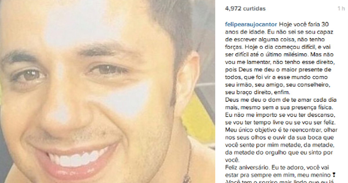 G1 Irmão Lembra Aniversário De Cristiano Araújo E Diz Não Vou Me