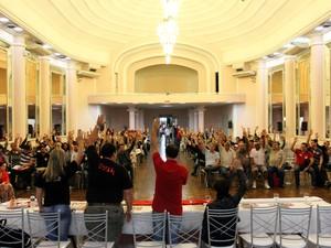 Assembleia Bancários Porto Alegre (Foto: Brayan Martins/SindBancários)