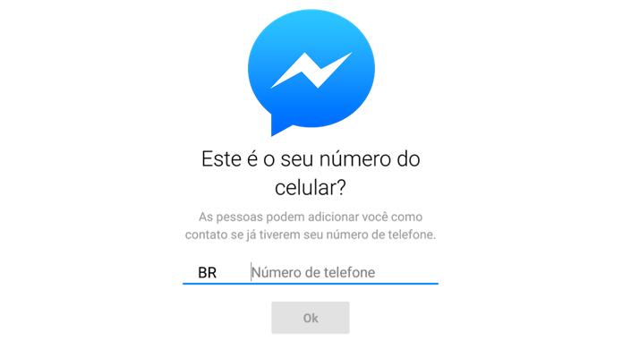Facebook Messenger passa a aceitar somente número de telefone para fazer login (Foto: Reprodução/Paulo Alves)