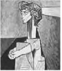 """Pablo Picasso. """"Retrato de Jaqueline Roque com as Mãos Cruzadas"""". (Foto: Reprodução/Enem)"""