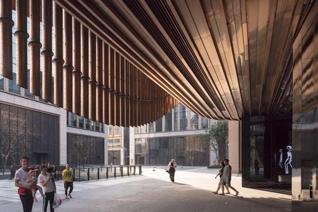 Centro cultural em Xangai surpreende com fachada móvel (Foto: Divulgação)