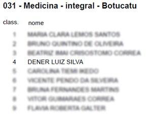 Dener passou em quarto em medicina na Unesp, que teve mais de 220 candidatos por vaga (Foto: Reprodução/Unesp)