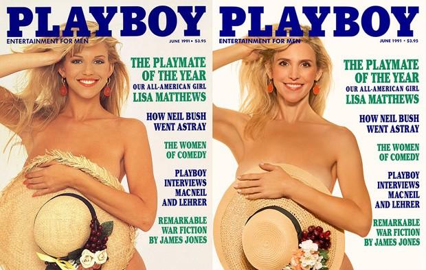 Lisa Matthews recria capa de seu ensaio nu (Foto: Reprodução)
