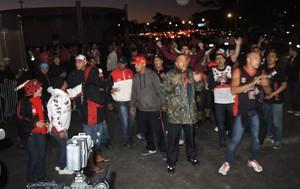 protesto torcida Flamengo Beira-Rio (Foto: Cahê Mota )