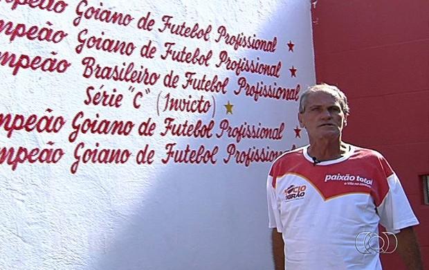 José Antônio, torcedor do Vila Nova (Foto: Reprodução/TV Anhanguera)