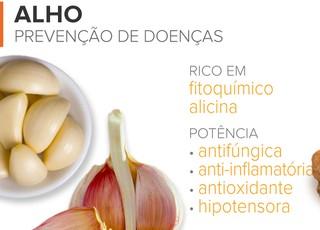 EuAtleta - alimentos para imunidade alho (Foto: Arte Eu Atleta)