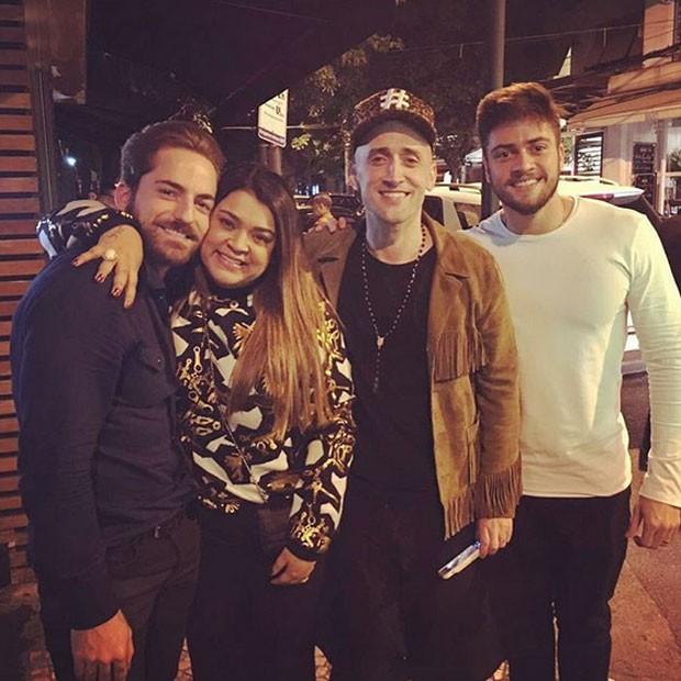 Thales Bretas, Preta Gil, Paulo Gustavo e Rodrigo Godoy na Zona Sul do Rio (Foto: Instagram/ Reprodução)