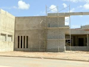 Obras do novo Pronto-Socorro Municipal de Cuiabá (Foto: Reprodução/TVCA)