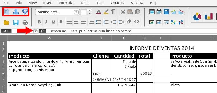 Excell Book transforma o Facebook numa planilha (Foto: Reprodução/Paulo Alves)