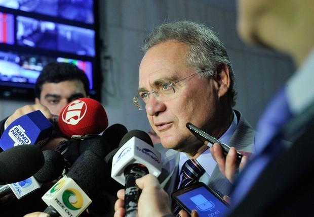 O líder do PMDB no Senado, Renan Calheiros (PMDB-AL) (Foto: Agência Senado)