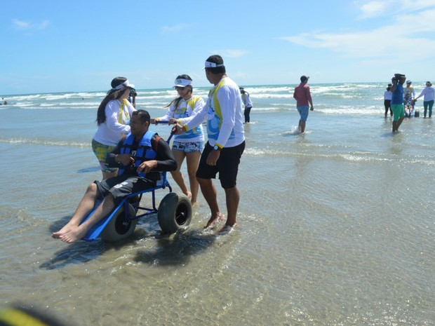 Projeto foi instalado na Praia de Atalaia, Litoral do Piauí (Foto: Thays Pessoa/DivulgaçãoSeid)