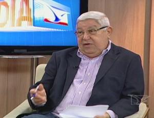 Comentarista da TV Mirante, Herberth Fontenelle (Foto: Reprodução/TV Mirante)