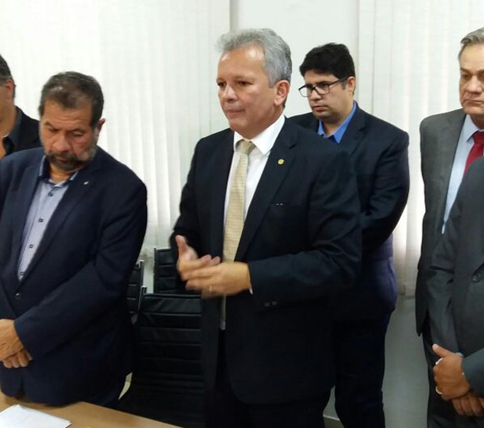 André Figueiredo anunciou candidatura à Presidência da Câmara (Foto: Bernardo Caram/G1)