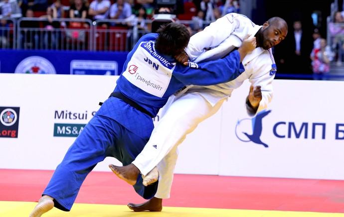 Teddy Riner luta final Mundial de judô (Foto: Divulgação / IJF)