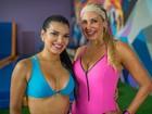 Juliane Almeida se exercita com a 'sogra' Ângela Bismarchi