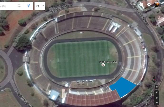 Estádio Santa Cruz (Foto: Reprodução/Google maps)