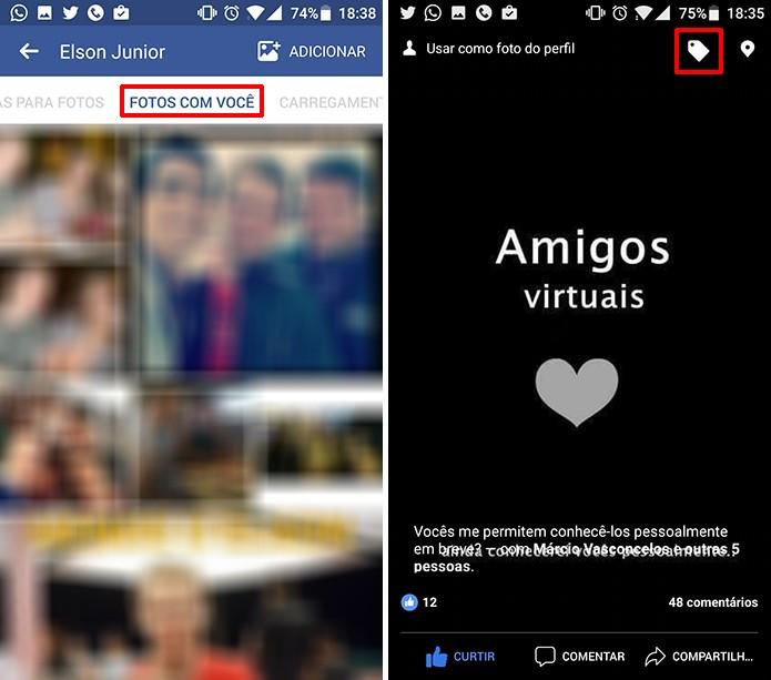 Facebook reúne as marcações do usuário no álbum Fotos com Você (foto: Reprodução/Elson de Souza)